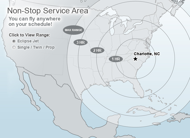 FlyCarolina Service Area - Fly anywhere...on YOUR schedule!